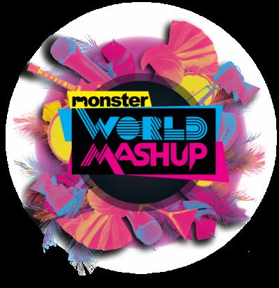 MonsterWorld Mashup Logo with Background