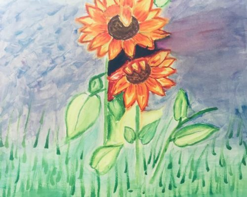 Sunflower Artwork by Sharmila